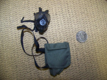 Miniature 1/6th Police SAS Army Gas Mask  & Bag #9