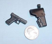 Miniature 1/6 Scale Glick Pistol 19 W/holster