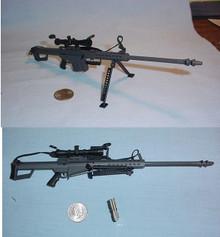 Miniature 1/6 Scale  Barrett 82A1 .50 Rifle
