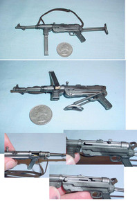 MINIATURE 1/6 WW2 GERMAN MP40 MACHINE GUN