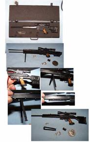 Miniature 1/6th Scale PSG1 Sniper Rifle & Case