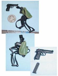 Miniature 1/6 Scale Cocking Bertta M92-F & Holster