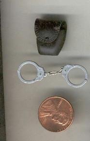 Miniature 1/6th Scale Police Hand Cuffs & Case