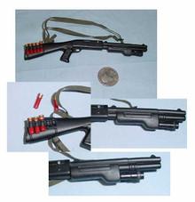 Miniature 1/6th Scale Metal M3 w/Surefire Shotgun