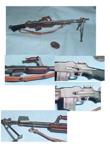 Miniature 1/6 Scale WW2 US BAR Rifle 5195