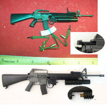 Miniature 1/6th Scale M16A1 w/203 Grenade Launcher w/4 rounds