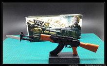 Miniature 1/6th Scale AK47 wBayonet & Stand