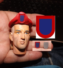 1/6 Scale 82nd Airborne Basic Flash Beret sold separtely