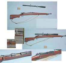 Miniature 1/6th Scale Springfield M1903A1 Sniper Rifle