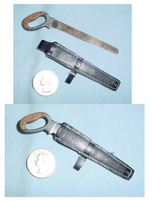 Miniature 1/6 Scale WW2 US German Medal Saw & Case