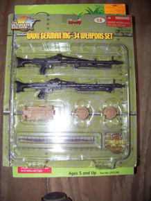1/6th Scale TUS 21st Century WWII German MG 34 Weapons Set