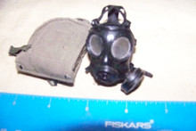 Miniature 1/6th WWII US Gas Mask & Bag #8