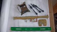 Miniature 1/6th Scale German RPzB 54/1 Panzerschreck, Rounds & Backpack RARE