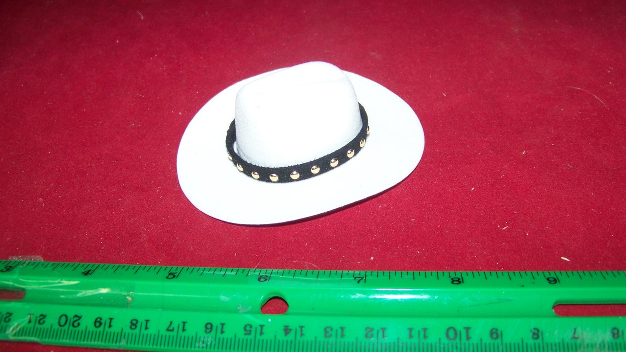 1//6th Scale Black Cowboy Western Hat
