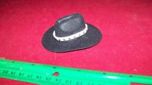 1:6th Scale Black Cowboy Hat w/White Hat Band