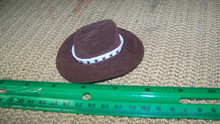 1:6th Scale Brown Cowboy Hat w/White Hat Band
