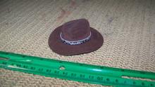 1:6th Scale Brown Cowboy Hat w/Snake print Hat Band