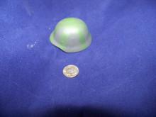 Miniature 1/6th Scale WWII Metal German Helmet w/Camo Strip