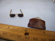 Miniature 1/6th Scale WWII US Metal Glasses & non-Leather case  RARE