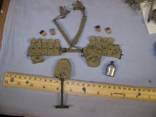 Miniature 1/6th Scale US WW2 Cloth M1936 Cartridge Belt & More #2