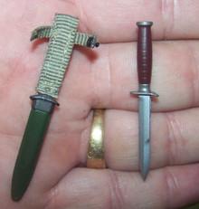 Miniature 1/6 Scale WW2 US M3 Fighting Knife #1