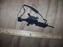 Miniature 1/6 Scale metal M249 SAW Automatic Machine Gun w/Scope #1