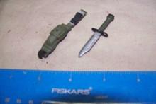 Miniature 1/6th Scale M9 Bayonet & Sheath