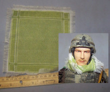 1/6th Scale Shemagh Desert Scarf in White/Green