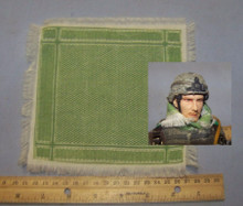 1/6th Scale Shemagh Desert Scarf in Cream/Green