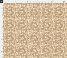 "1/6th Scale British 4 Color Desert DPM Material 18"" x 14"""