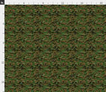 "1/6th Scale MARPAT Woodland Camo Material 18"" x 14"""