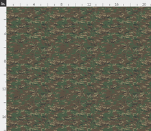 "1/6th Scale Multicam Woodland Camo Material 18"" x 14"""