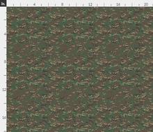 "1/6th Scale Multicam Woodland Camo Material 18"" x 14"""