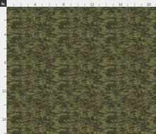 "1/6th Scale Multicam Tropic Camo Material 18"" x 14"""