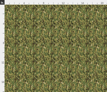 "1/6th Scale Navy Woodland Camo AOR 2 Lighter Colorway Camo Material 18"" x 14"""