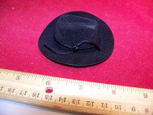 1/6th Scale Black Cowboy Western Hat For Larger heads