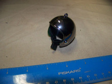 1:6th Scale Motorcycle Helmet Dark Chrome w/Chin Strap