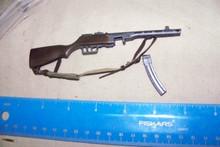 Miniature 1/6th Scale WWII Russian PPSH 41 Machine Gun w/Banana Clip