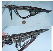 Miniature 1/6 WW2 German MG42 Machine Gun w/drum