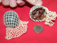 Miniature 1/6th Scale WWII Netted Camo Paratrooper German Helmet