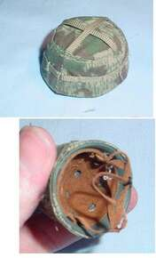 Miniature 1/6th Scale German WWII  Paratrooper Helmet w/cover