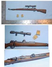 Miniature 1/6 Scale German KAR 98 Sniper Rifle w/detachable Scope RARE