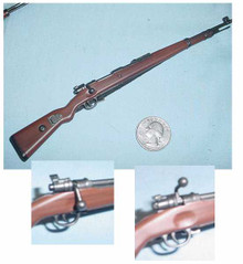 Miniature 1/6 Scale German KAR 98 Rifle (stock color can vary)