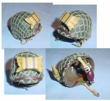 Miniature 1/6th Scale US WWII M1C Paratrooper Helmet w/liner