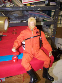 1/6th Scale  GI Joe Adventure Team Red  Lantern Light Up