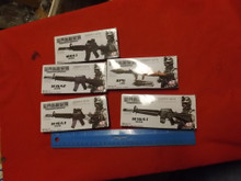 5 x Boxed Rifle Kits  Lot   might need painted