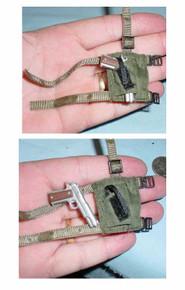 Miniature 1/6 Scale Chrome .45 & Cloth Holster