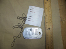 1/6 Scale Repro GI Joe Large Size Dog Tag w/Chain & Stickers
