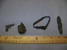 1/6 Scale BBI Pistol, Holster, Canteen & Belt #3