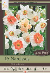 Pink Narcissus Mix 15 Bulbs - Deer Resistant - NEW - 14/16 cm Bulbs